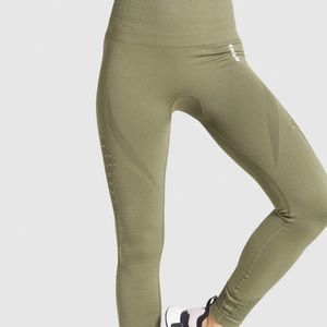 energy seamless army green gym shark leggings
